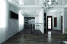 Перспективный объемный вид кухни<br>Проект, дизайн квартиры, дизайн-проект, дизайн интерьера