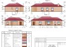 Фасад 1-6, 6-1, А-Е, Е-А. Ведомость наружной отделки<br>Проект дома, дизайн-проект, ремонт дома